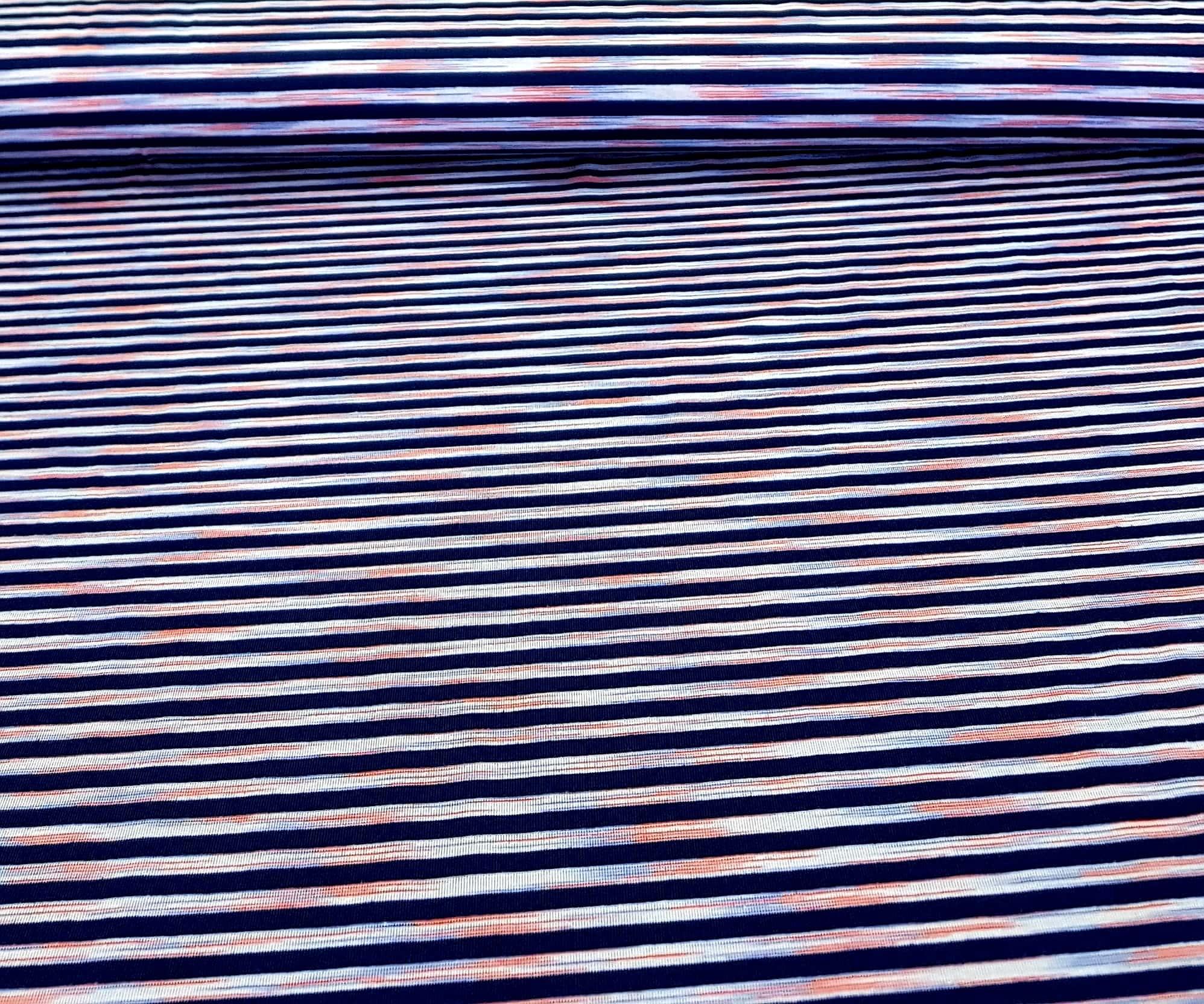 bedruktetricotmetstreepdonkerblauworanje-min