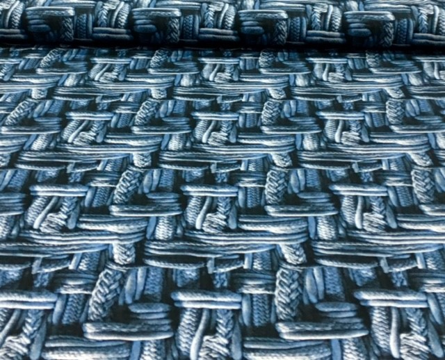 digitaletricotgebreidekabelblauw
