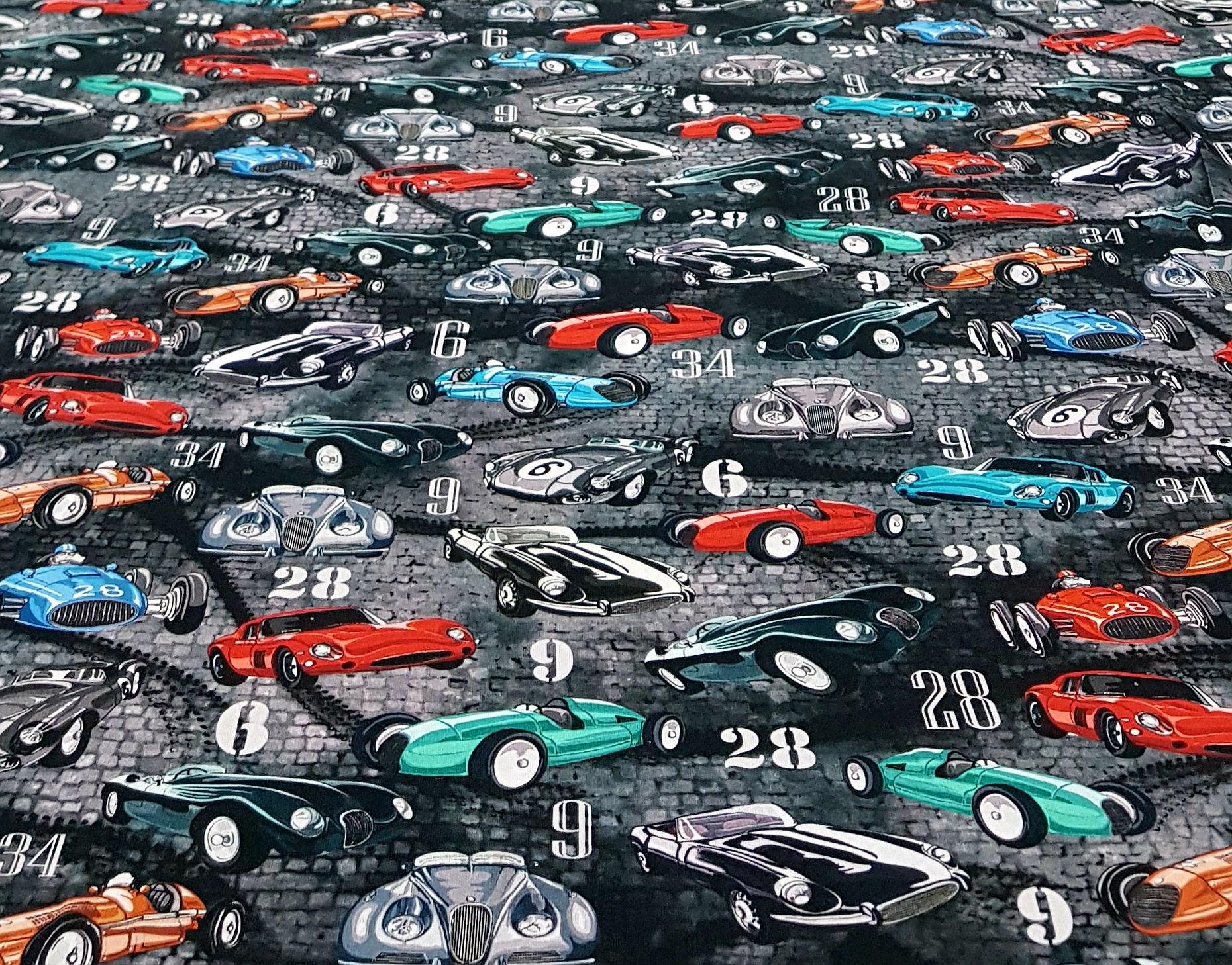 digitaletricotgekleurdeautosroodturquoise