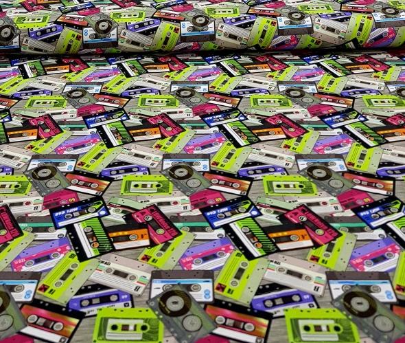 digitaletricotgekleurdecassettebandjeslimefuchsia