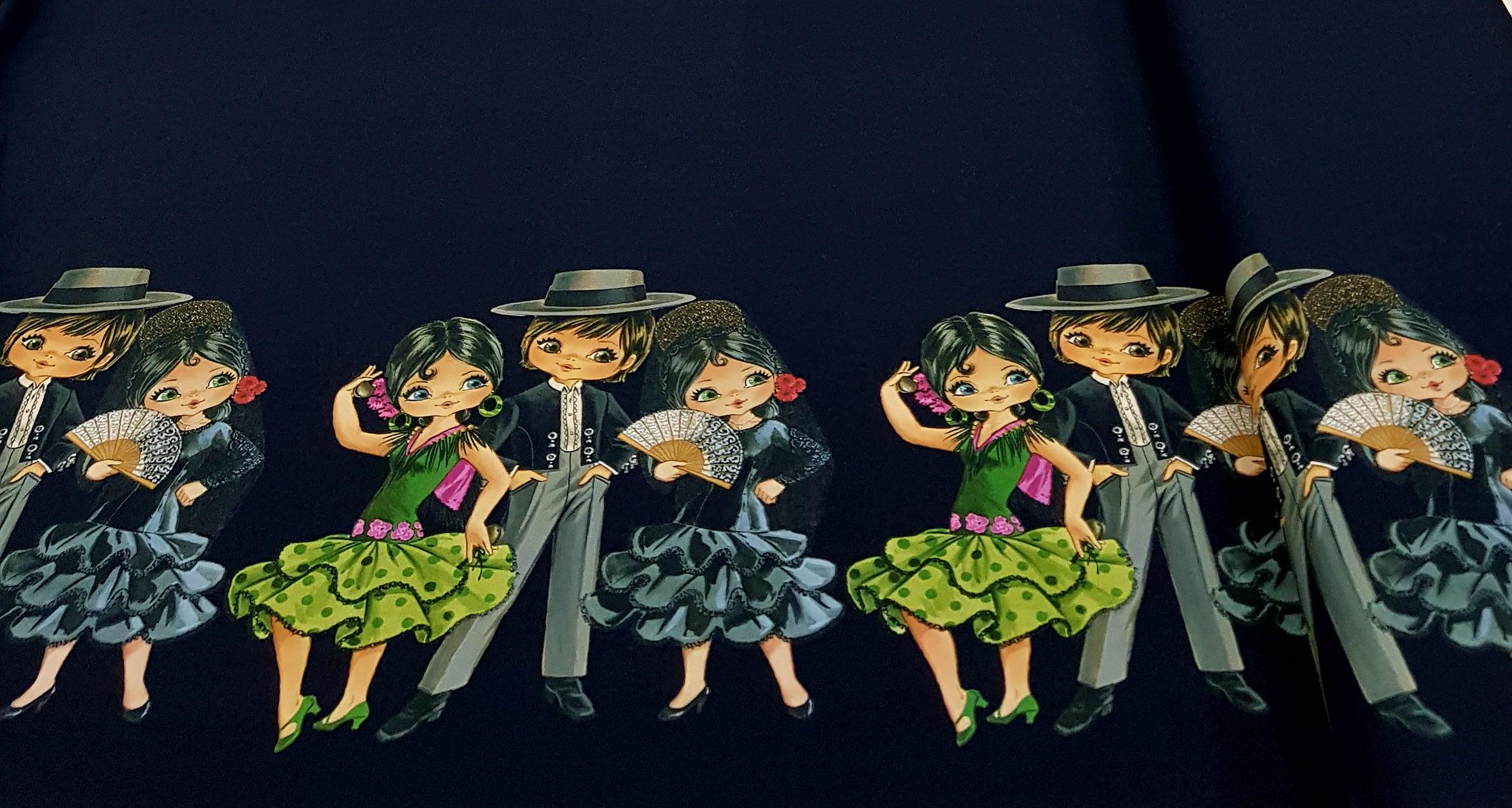 digitaletricotrandpatroonspaansedansdonkerblauw