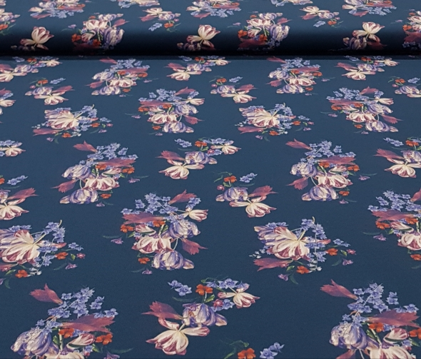 digitaletricotvintagebloemenblauw