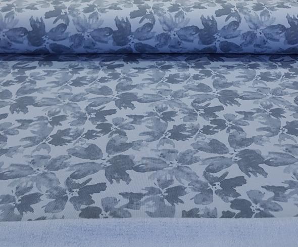 frenchterrybrushedbloemenblauw