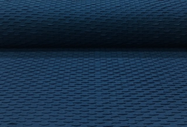 jacquardjerseydonkerblauw