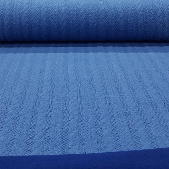 jacquardjerseykabelblauwkobaltblauw