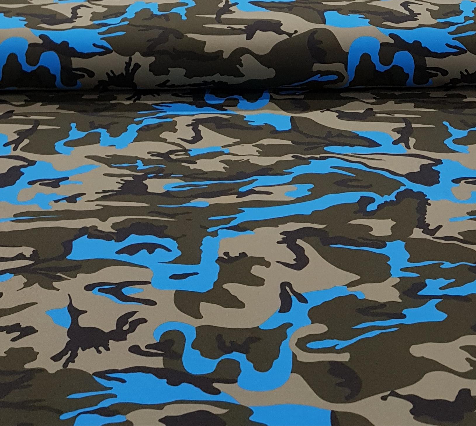 katoenentricotlegerprintblauw