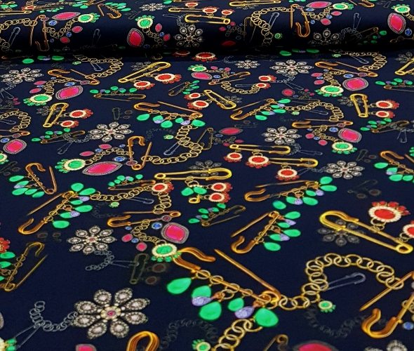 katoenentricotveiligheidsspeldenjuwelenblauw