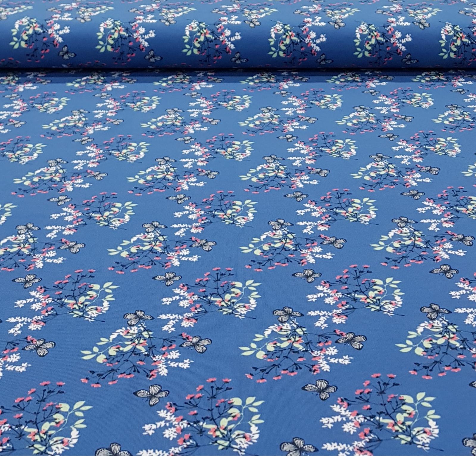 kindertricotbloesemvlindersjeansblauw