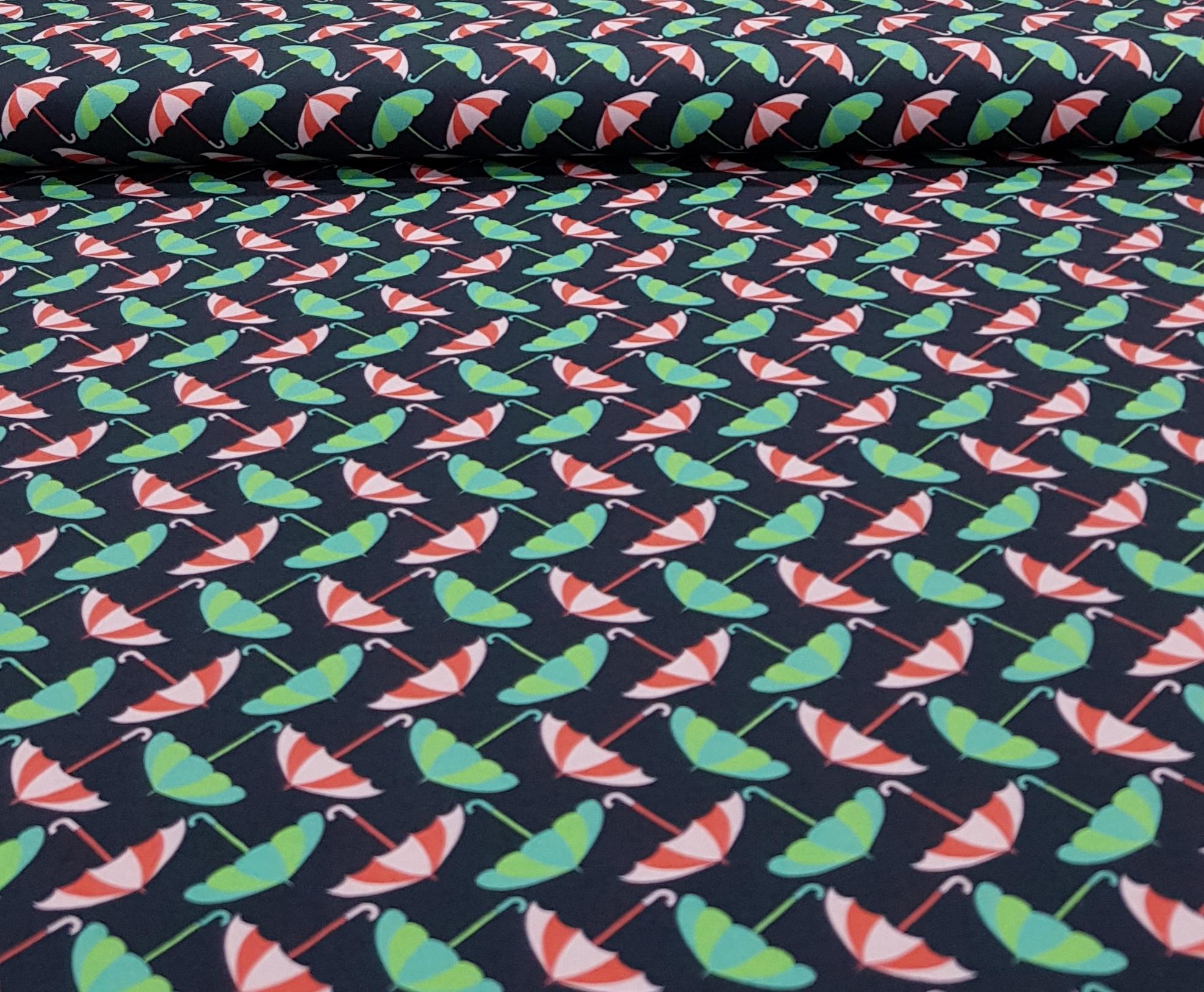 kindertricotgekleurdeparaplublauwgroen
