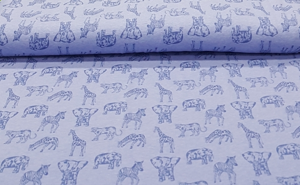 kindertricotgemeleerdjeansblauwdieren