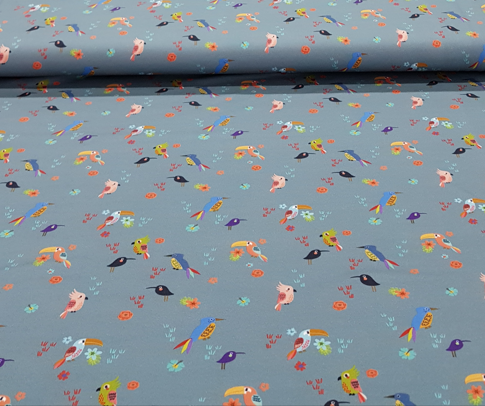 kindertricotkleinevogelsoortenjeansblauw