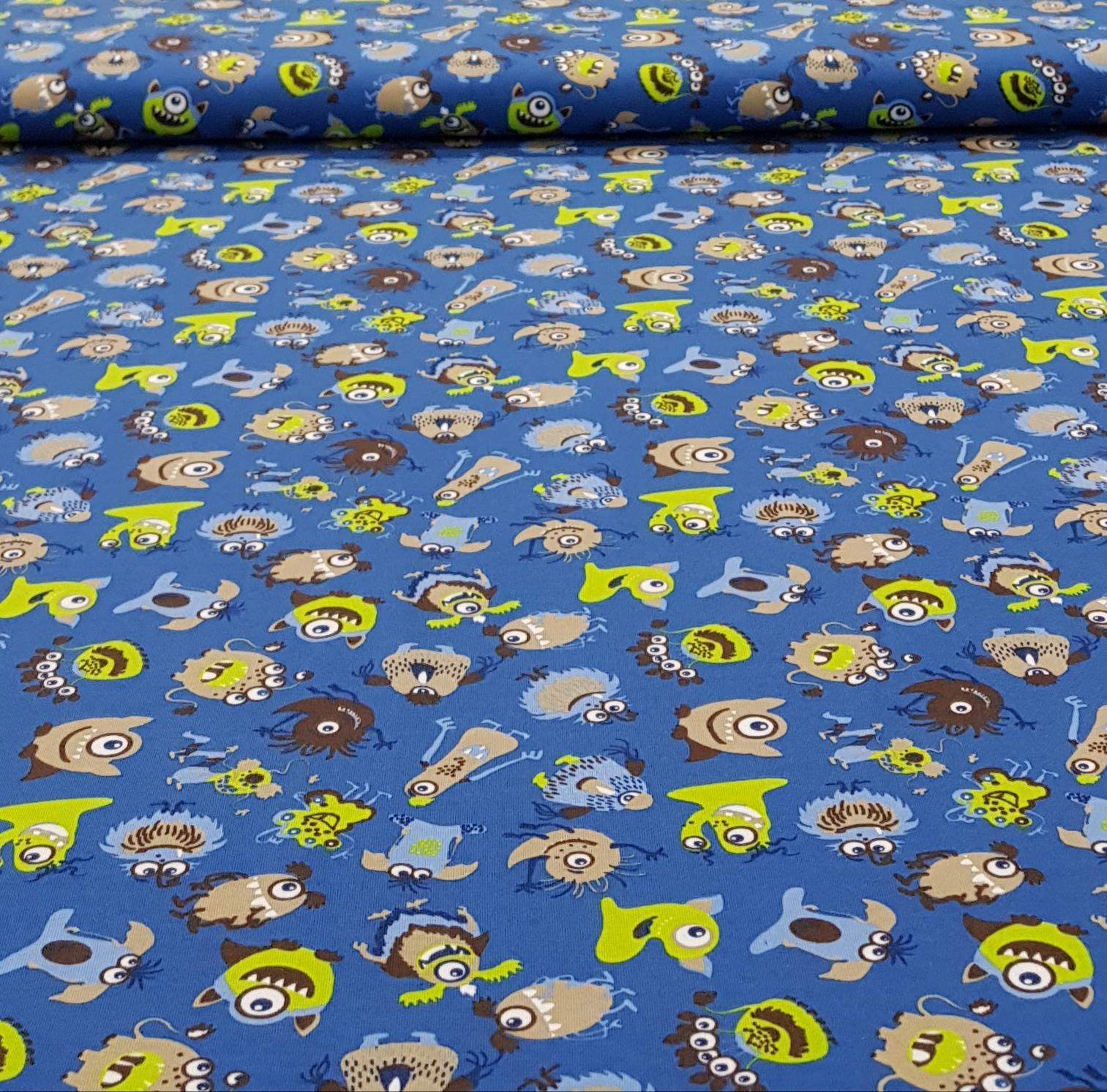 kindertricotmonstersjeansblauwgroen