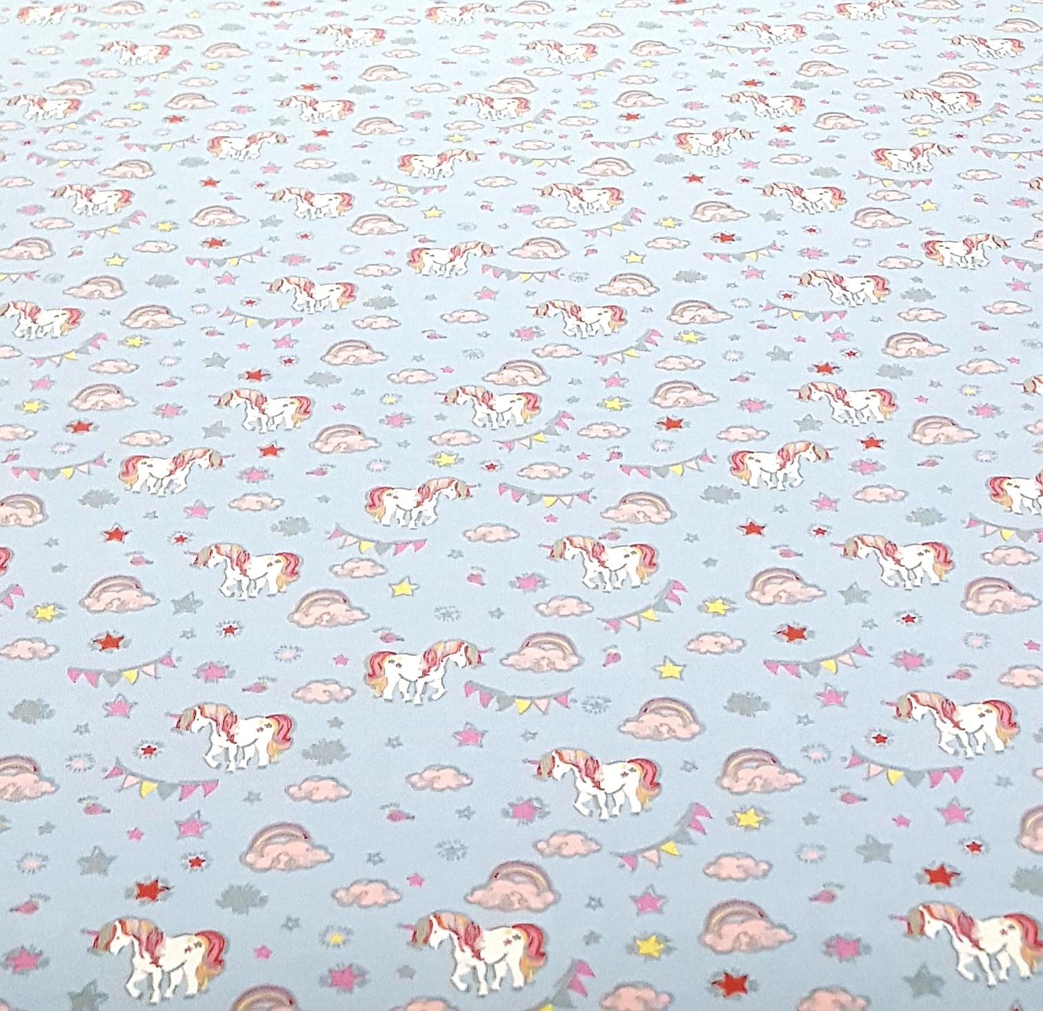 kindertricotpaardenmetvlaggenlijnblauw