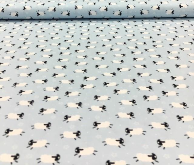 kindertricotschaapjeslichtblauwwit