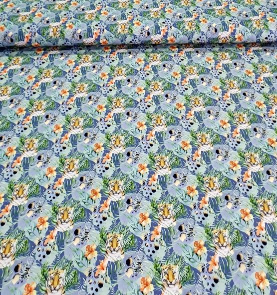 kindertricottijgersmetbladblauw