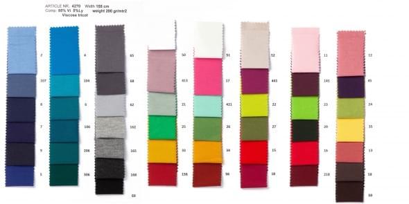 kleurenkaartviscose
