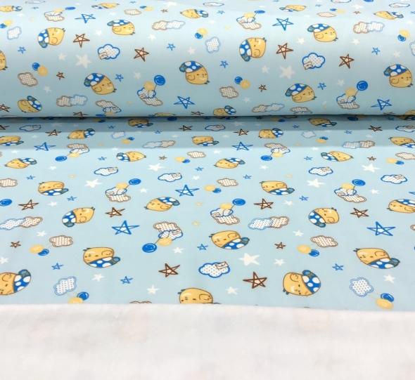 sweatalpenfleeceslaapmutsjesblauw