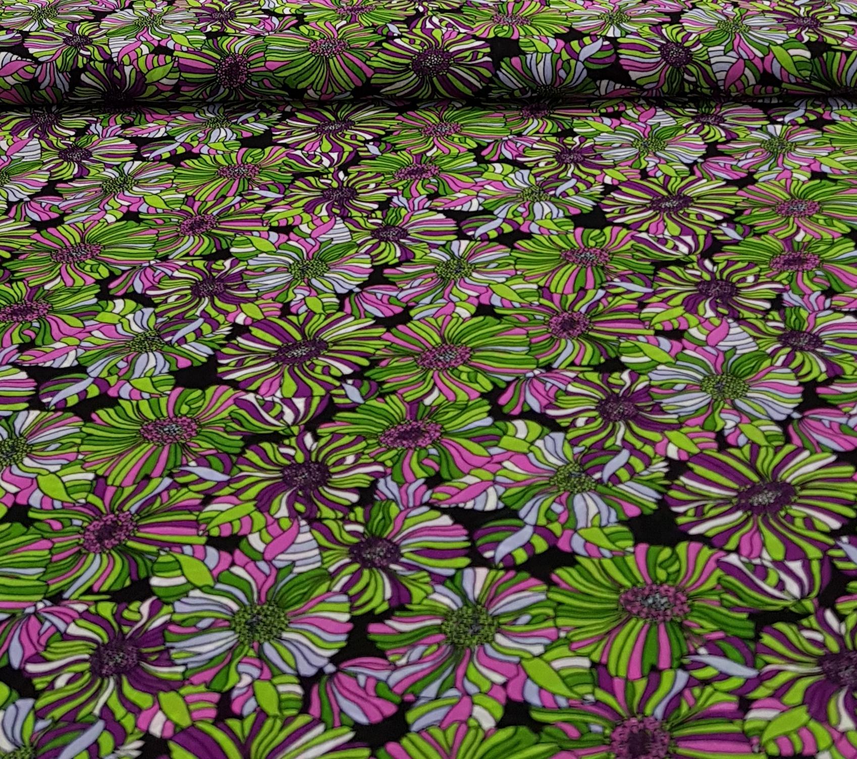 viscosevoilebloemengroenpaars